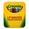Lip Smacker | Crayola Stackable Mini Vault - Blues - Product tin front facing cap fastened, with no background