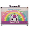 Lip Smacker | Sparkle & Shine Unicorn Train Case | Product side case closed, with no background