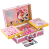 Lip Smacker | Disney Minnie Mouse Train Case | Product angled case open, with no background.