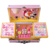 Lip Smacker | Disney Minnie Mouse Train Case | Product top faciing open, with no background.