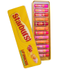 Lip Smacker   12 Piece Starbursts Lip Balm Vault   Product front facing lid open, with no background
