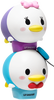 Lip Smacker | Tsum Tsum Duo- Donald & Daisy - products stacked angle view with cap fastened, with no background