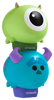 Lip Smacker   Tsum Tsum Duo - Mike Wazowksi & Sulley - products stacked angle view with cap fastened, with no background
