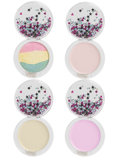 Lip Smacker | Smackers Sparkle and Shine Collection - Products front facing, open compact, no background