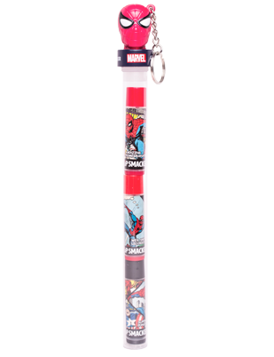 Lip Smacker | Spiderman Trio Cane - product front facing with cap fastened, with no background