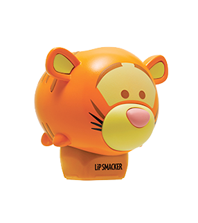 Lip Smacker | Tsum Tsum -  Tigger - Bouncy Bubble Gum - product angle view with cap fastened, with no background