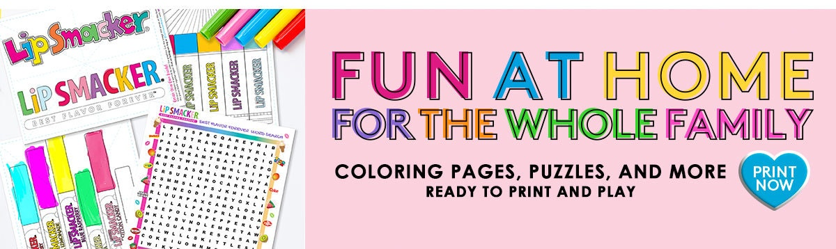 Fun at home activities for the whole Family! Print Now!