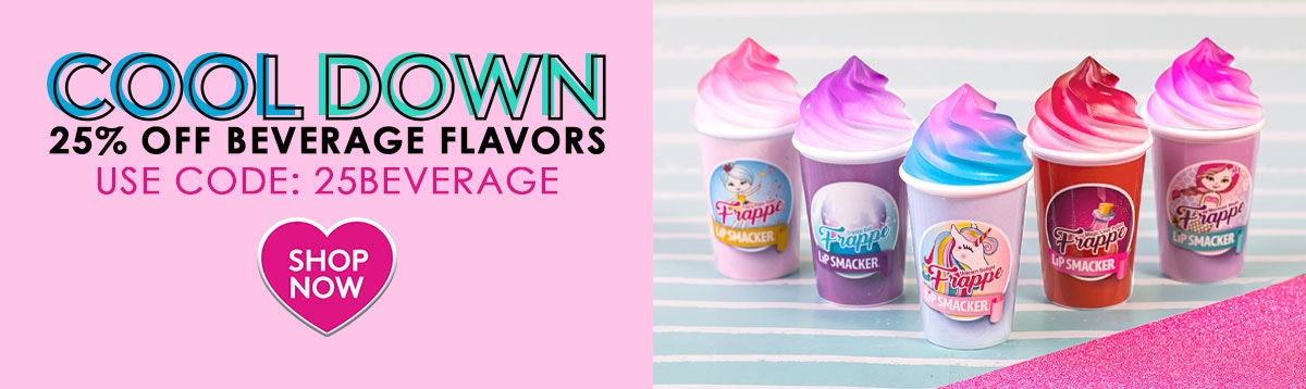 Lip Smacker| Cool Down | 25% Off Beverage Flavors | USE CODE: 25BEVERAGE| CLICK HERE TO SHOP NOW