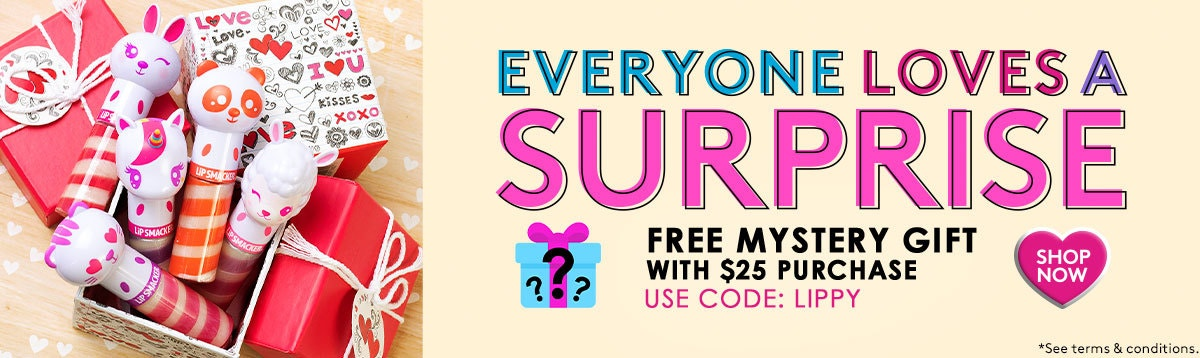 Free Mystery Gift with $25 purchase | Use  Code: LIPPY | Shop Now!