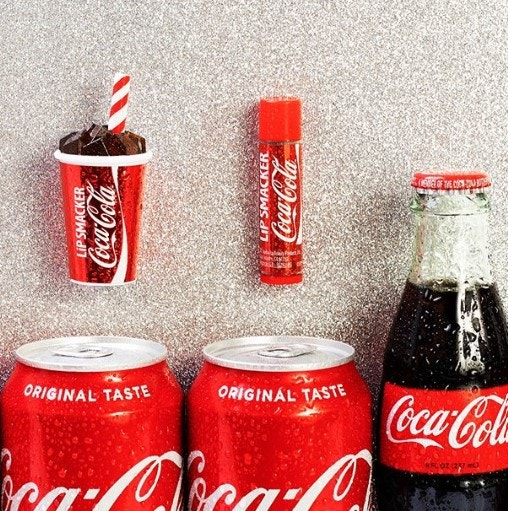 Coca Cola Flavored Lip Balms with Coke Cans
